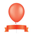 red balloon and ribbon vector image vector image