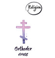 religious sign-orthodox cross vector image