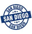 san diego blue round grunge stamp vector image vector image