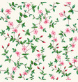 seamless pattern flower rose branch wallpaper vector image vector image