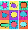 set of color retro speech bubbles with backgrounds vector image vector image