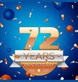 Seventy two years anniversary celebration design