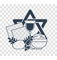 silhouette icon holiday pesach vector image vector image