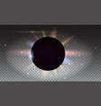 solar eclipse astronomical phenomenon light rays vector image vector image