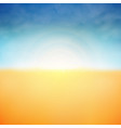summer background of sunshine and clouds nature vector image vector image