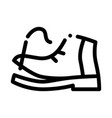 torn shoe thread icon outline vector image vector image