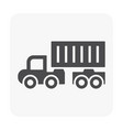 trailer icon black vector image