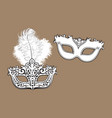 two decorated venetian carnival masks vector image