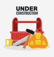 under construction equipment vector image vector image