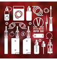Vape shop and e cigarette icons vector image