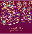 vintage background greeting card with gold flower vector image vector image