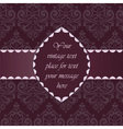 Vintage Classic Invitation with ornaments vector image vector image