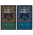 whiskey label vintage design retro vector image vector image