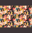 women pattern cute international girl faces vector image vector image