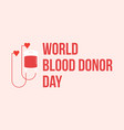 world blood donor day collection banner vector image vector image