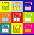 apartment house floor plans pop-art style vector image