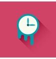 Melting clock icon vector image