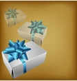 Background with realistic gift box vector image