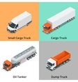 Cargo Truck set icons Snow Plow Truck Small vector image