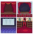 theater scene or opera and cinema stage vector image
