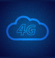 4g speed wireless mobile cloud network vector image
