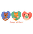 adopt a friend abstract concept vector image vector image