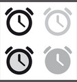 basic clock minimal icon vector image vector image