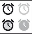 basic clock minimal icon vector image vector image