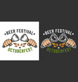 beer festival colorful badge vector image