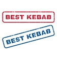 Best Kebab Rubber Stamps vector image vector image