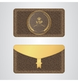 Brown VIP envelope with a rubber stamp and a gold vector image vector image