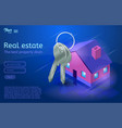 bunch of keys and a house apartment and flat vector image