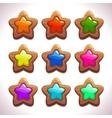 Cartoon wooden stars vector image vector image