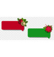 christmas labels set with christmas holly berry vector image