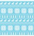 Christmas nordic seamless pattern - deer vector image vector image