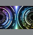 circle digital pixel abstract background vector image vector image