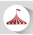 circus tent isolated icon design vector image vector image