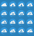 Cloud Computing Flat Icon Set vector image vector image