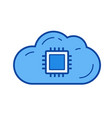 cloud data storage line icon vector image
