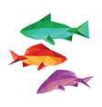 collection of different fish vector image vector image