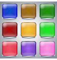 Colorful glass buttons vector image vector image