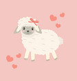 cute little sheep baclip art funny smiling vector image