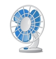 Desktop small fan with blue blades vector image