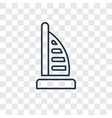 dubai concept linear icon isolated on transparent vector image