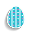 easter egg flat object or icon isolated on white vector image vector image