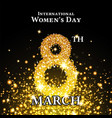 elegant international womens day background vector image vector image