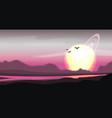 fantastic colored panorama fantasy vector image vector image