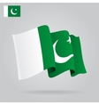 Flat and waving Pakistani Flag vector image vector image