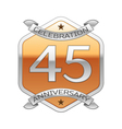Forty five years anniversary celebration silver vector image vector image
