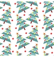 fur-trees seamless pattern vector image vector image